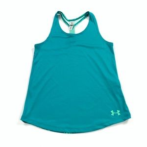 Under Armour Green Athletic Tank Top Youth Medium